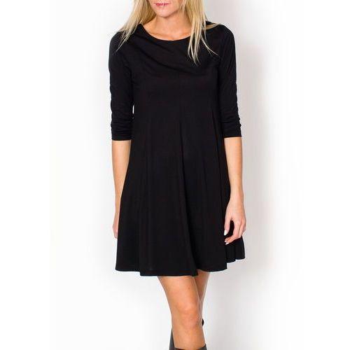 Luźna sukienka trapezowa XL+, kolor czarny