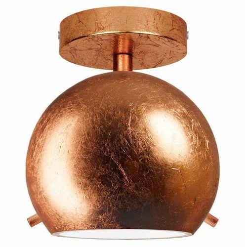 LAMPA sufitowa MYOO 5902429630507 Sotto Luce loftowa OPRAWA szklana kula miedziana (5902429630507)