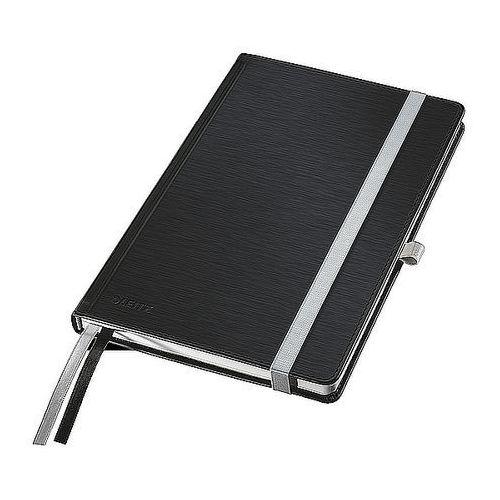 Notatnik w twardej oprawie Leitz Style A6 80 kartek kratka, satynowa czerń