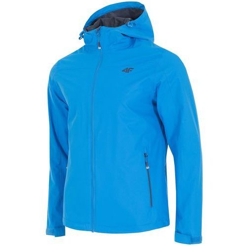 4f Męska kurtka przeciwdeszczowa h4l18 kum002 niebieski l