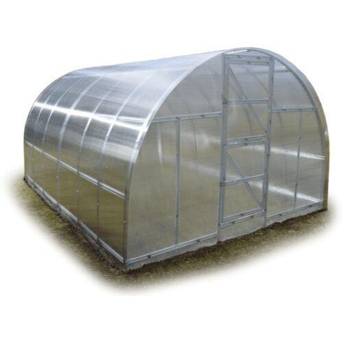 """Tunel szklarnia """"Omega"""" 3x8 z ocynkowanego profilu z poliwęglanem 4 mm"""
