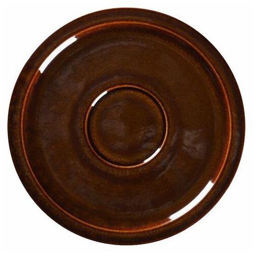 Spodek porcelanowy pod filiżankę STONE brązowy