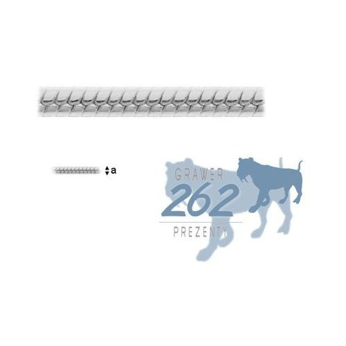 Łańcuszek Linka Wąż Srebro 925 45cm 2,1g, lan001545