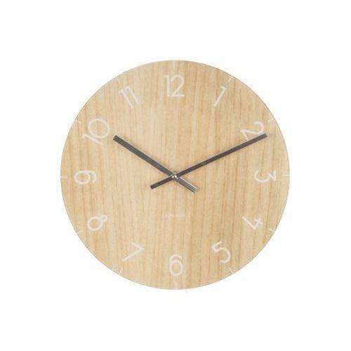 Zegar stołowo-ścienny Glass Clock light wood by Karlsson