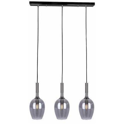 Milagro Tango Smoked ML6166 lampa wisząca zwis 3x40W E14 czarna, kolor Czarny