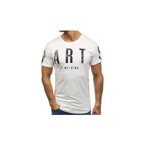 T-shirt męski z nadrukiem biały denley 181167 marki Breezy