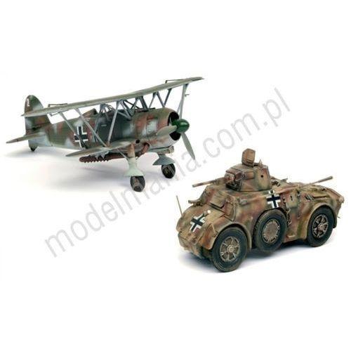 Italeri Zestaw samochód pancerny autoblinda ab 41 i myśliwiec fiat cr.42  10501 (8001283905015)
