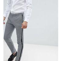 skinny cropped trousers with insert stripe - blue marki Heart & dagger