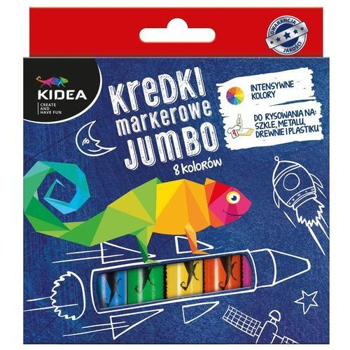 kredki markerowe jumbo 8 kolorów kidea marki Derform