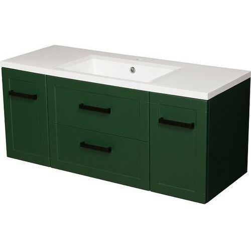 Gante Zielona szafka z umywalką 120/46 seria meiva z ✖️autoryzowany dystrybutor✖️