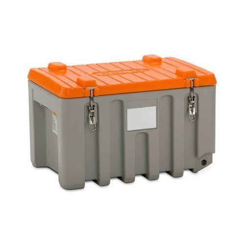 Pojemnik uniwersalny z polietylenu, poj. 150 l, nośność 100 kg, szary / pomarańc