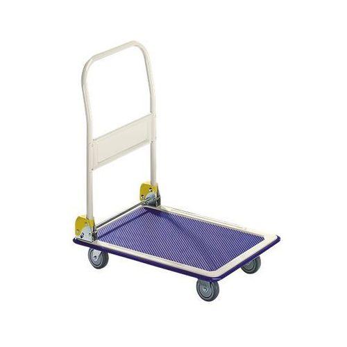 Wózek platformowy MAX, pałąk do przesuwania, składany, nośność 200 kg. Kółka na