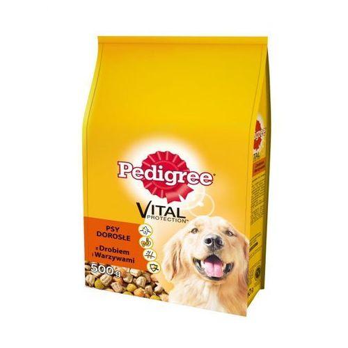 Pedigree  vital protection karma dla psów 500g sucha z drobiem i warzywami psy dorosłe