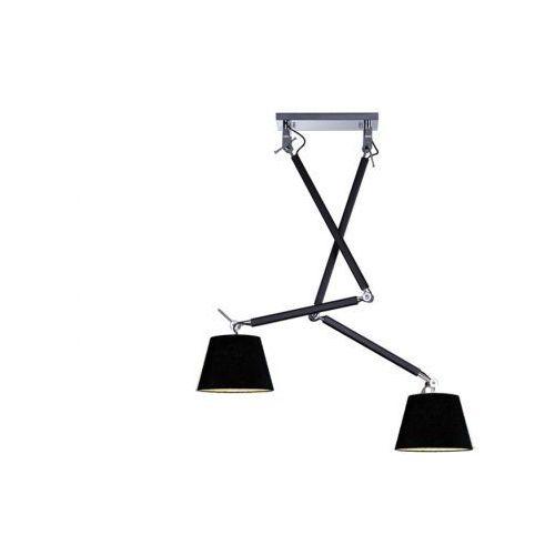 Azzardo Zyta 2 s black pendant md2300-2s bk lampa sufitowa pendant