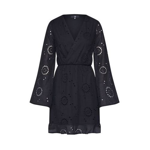 Missguided Sukienka 'Broderie Anglaise Fluted Sleeve' czarny