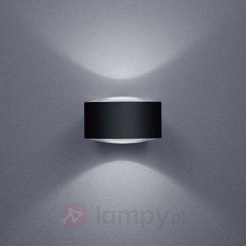 Czarny matowy kinkiet zewnętrzny LED Flow