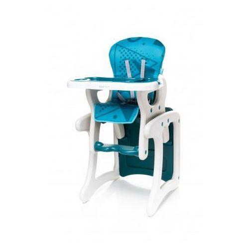 4Baby Fashion krzesełko do karmienia + stolik 2 w 1 turkus NOWOŚĆ - sprawdź w wybranym sklepie