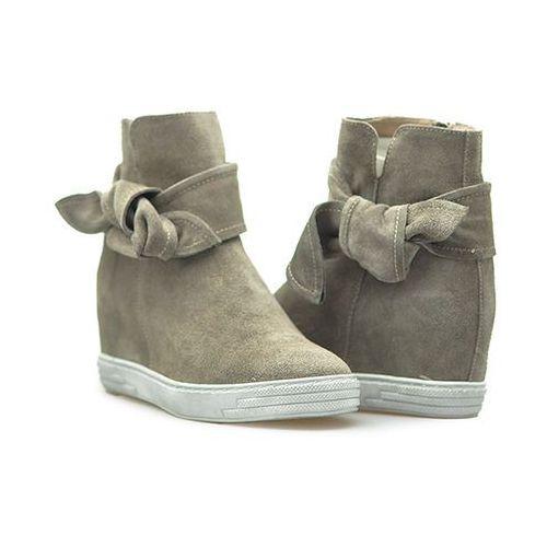 Sneakersy Karino 2090/007-P Jasny Brąz zamsz