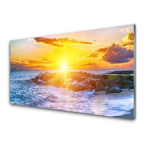 Tulup.pl Obraz akrylowy zachód słońca morze wybrzeże