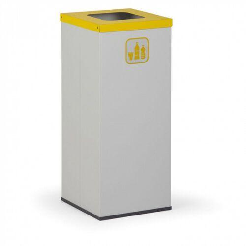 Kosz do segregacji śmieci, 50 l, bez wewnętrznego pojemnika, szary/żółty