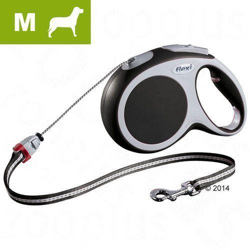 Smycz dla psa Flexi Vario M antracytowa, 8 m - Lampka LED-Lighting-System