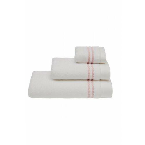 Zestaw podarunkowy małych ręczników CHAINE, 3 szt Biały / różowy haft
