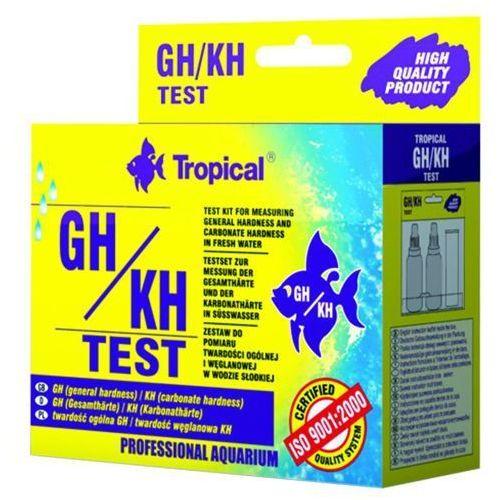 TROPICAL Test GH/KH - test do pomiaru twardości ogólnej (GH) i węglanowej (KH).