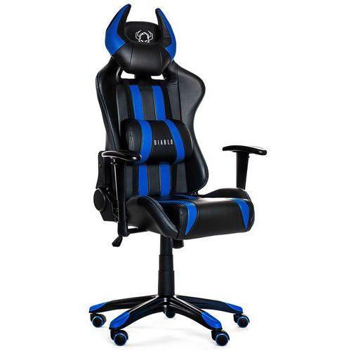 Fotel chairs x-one horn czarno-niebieski + 15% rabatu na tańszy produkt! marki Diablo
