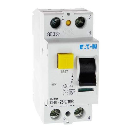 Eaton Wyłącznik różnicowoprądowy cfi6 2p 25a 30ma typ ac 235753 electric (9007912212300)