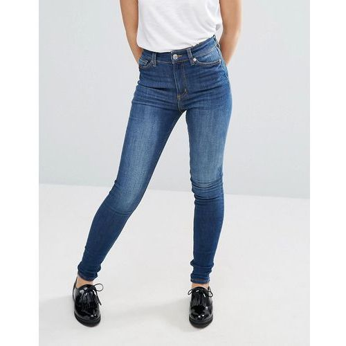 Monki oki skinny high waist jeans - Blue