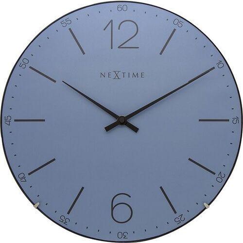 Zegar ścienny index dome niebieski marki Nextime