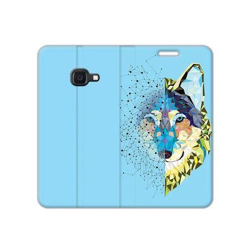 Samsung Galaxy Xcover 4S - etui na telefon Flex Book Fantastic - geometryczny wilk, ETSM941FBFCFB046000