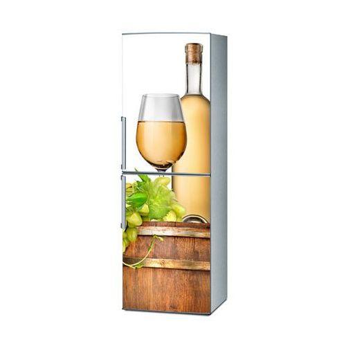 Mata magnetyczna na lodówkę - Białe wino i beczka 4318 - produkt z kategorii- Magnesy na lodówkę