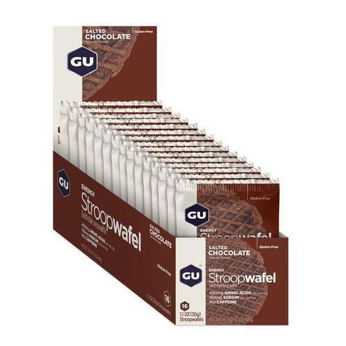 GU Energy StroopWafel Żywność dla sportowców Salted Chocolate 16 x 30g 2018 Zestawy i multipaki (0769493101600)