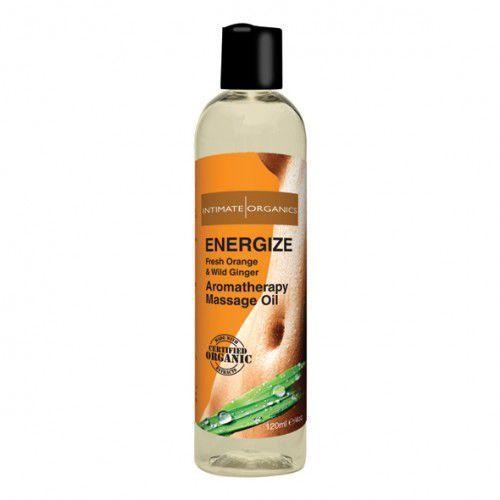 Energetyzujący olejek do masażu -  energize massage oil 120 ml od producenta Intimate organics