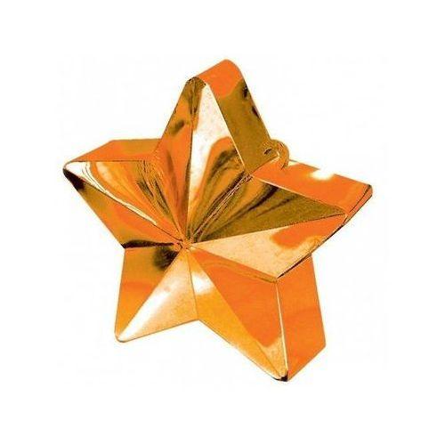 Obciążnik ciężarek do balonów napełnionych helem - gwiazda pomarańczowa - 170 g. marki Amscan