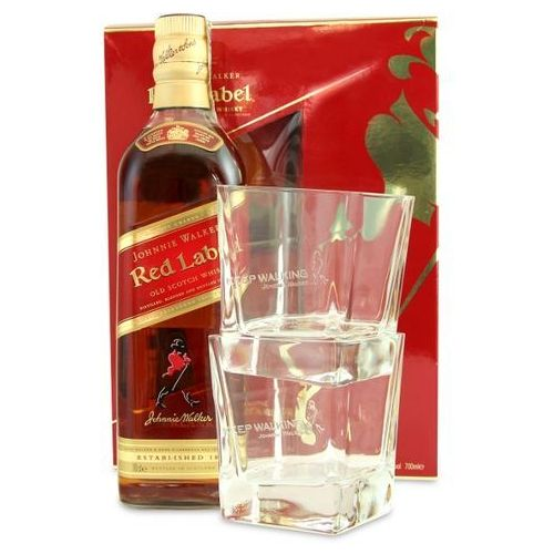 OKAZJA - Johnnie walker Whisky  red label 0,7 l. + 2 szklanki
