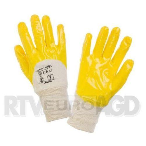 LAHTI PRO Rękawice nitryl, żółto-białe, rozmiar 9 opakowanie 12par /L220209W/ (5903755047878)