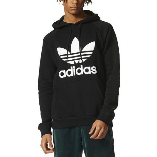 originals trefoil bluza z kapturem black marki Adidas