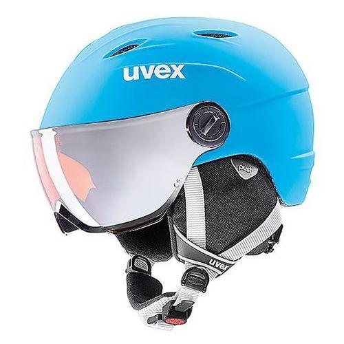 Dziecięcy kask narciarski junior visor pro niebieski m marki Uvex