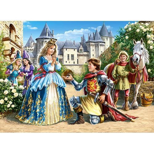 Puzzle 300 elementów Princess and Knight, 5904438030040_811598_001