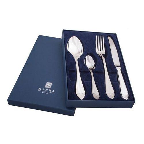 Hefra  sztućce zestaw obiadowy dla 1 osoby (4 sztućce). wz.francuski posrebrzany.
