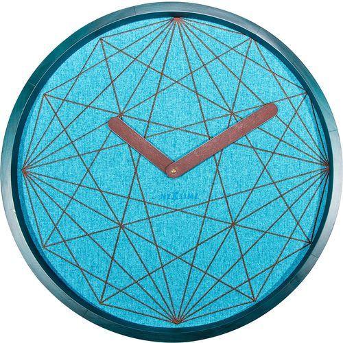 Zegar ścienny Calmest Nextime turkusowy (3199), kolor niebieski