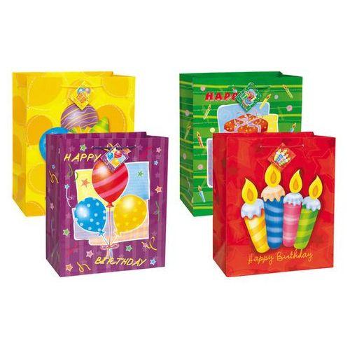 Torebki prezentowe na urodziny 33x46 cm - 1 szt. (0011179643325)