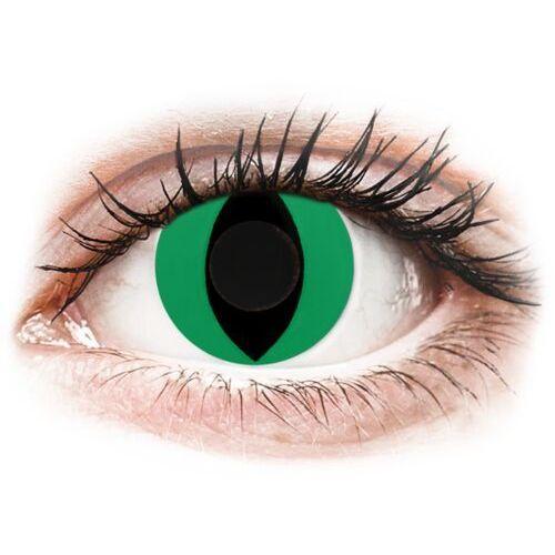 Gelflex Crazy lens - cat eye green - jednodniowe zerówki (2 soczewki)