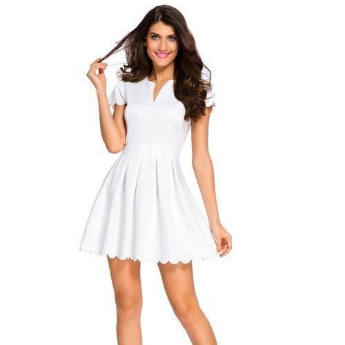 Plisowana rozkloszowana sukienka M CZARNY
