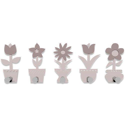 Calleadesign Wieszak ścienny little flowers jasnoróżowy (13-003-31)