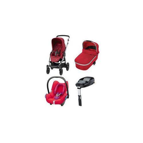 W�zek wielofunkcyjny 4w1 Stella + Cabrio Fix + Baza Maxi-Cosi + GRATIS (Robin Red)