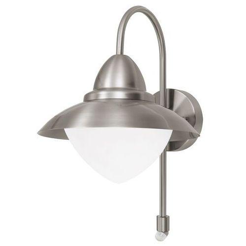 Eglo Kinkiet sidney 87105 lampa opraw ścienna 1x60w e27 stal ip44 czujnik ruchu (9002759871055)