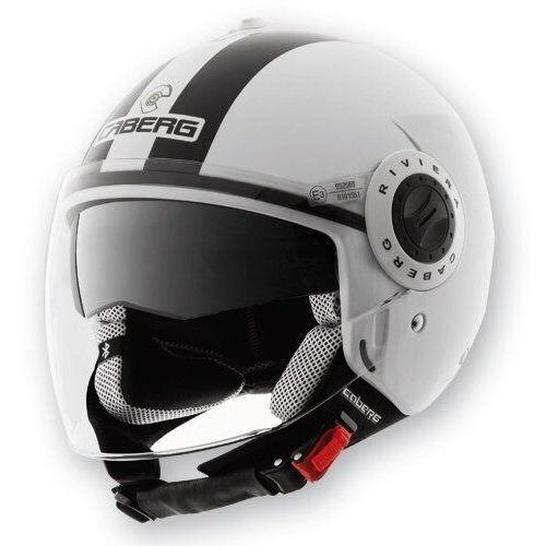Caberg kask otwarty jet z blendą model riviera v2+ legend kolor biały/czarny